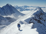 Mountaineer on the Summit Ridge of 4650-Meter Mount Shinn Photographic Print by Gordon Wiltsie