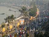 Mumbai Marathon Along Marine Drive Photographic Print by Abraham Nowitz