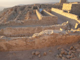 Stone Walls of Masada, a Palace Complex Built by Herod the Great Photographic Print by Michael Melford