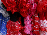 Sevillanas or Flamenco Dresses Photographic Print by Raul Touzon
