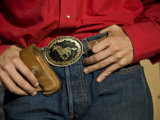 Lajitas Texas, Detail of Cowboy Belt Buckle, Brewster County Photographic Print by Richard Nowitz