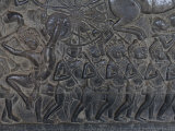 Relief Sculpture at Angkor Wat Photographic Print by Rebecca Hale