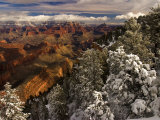 Fresh Snow at the South Rim of Grand Canyon National Park Photographic Print by Ralph Lee Hopkins