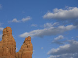 Red Sandstone Spires and Clouds in Sedona, Arizona Photographic Print by John Burcham