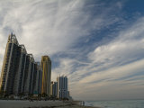 High Rises Along the Coast at Sunny Isles under a Huge Sky Photographie par Abraham Nowitz