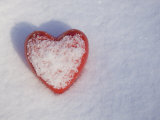 Red Heart in the Snow Photographic Print by John Burcham
