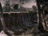 This Bridge Was Made Out of Stone by the Khmers, Seven Centuries Ago Lámina fotográfica por Courtellemont, Gervais