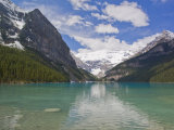 Clear, Clean Water and Majestic Mountain Scenery at Lake Louise Photographic Print by Mike Theiss