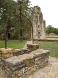 San Antonio, Texas, Mission Espada Old Well and Church Facade Photographic Print by Richard Nowitz