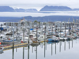 Marina at Homer Harbor in the Kenai Peninsula, Alaska Photographic Print by Michael Melford