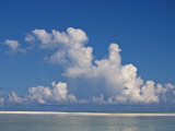 View of a White Beach, Ocean and Sky in the Seychelles Photographic Print by Michael Melford