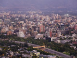 Santiago, Chile. Newer North East Suberbs of the Growing City Photographic Print by Richard Nowitz