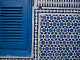 Synagogue's Blue and White Mosaic Stars and Blue Shutters Photographic Print by Abraham Nowitz