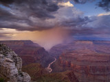 Monsoon Storm in the Grand Canyon Photographic Print by David Edwards