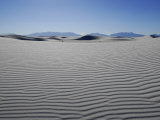 Sand Dunes, Rippled Sand and Sky at White Sands National Monument Photographic Print by Raul Touzon