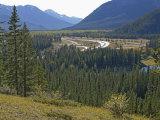 Trans-Canada Highway and Bow River in Banff National Park, Alberta Canada Photographic Print by Gordon Wiltsie