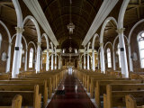 Interior of the Our Lady of Mercy Church in Port Au Port Photographic Print by Hannele Lahti