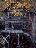 Fully Operational Grist Mill Sells its Products to Park Visitors Photographic Print by Raymond Gehman