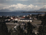 High-Angled View of Puerto Varas on Lake Llanquihue Photographic Print by Jacob Gayer