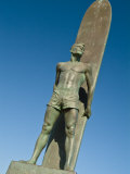 Santa Cruz, California, Statue of Surfer Photographic Print by Richard Nowitz