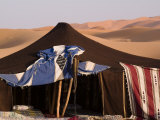 Berber Tent and Sand Dunes in the Northern Sahara Desert Photographic Print by Abraham Nowitz