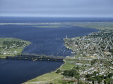 Aerial View of the Mouth of Merrimack River Photographic Print by Jack Fletcher