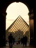 Glass Pyramid at the Louvre, Framed in an Arch at Dusk Photographic Print by Richard Nowitz