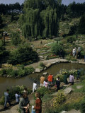 Tourists Walk Twisting Paths Through a Botanical Garden Photographic Print by Bates Littlehales