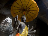 Vishnu Statue at the Entrance of Angkor Wat, Cambodia Photographic Print by Rebecca Hale