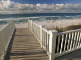 Boardwalk Leads to an Empty Beach Photographic Print by Michael Melford