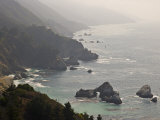 Famous View of the Coast Along Route 1 in Big Sur Photographic Print by Michael Melford
