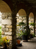 San Antonio, Texas, Mission Espada. Repeating Arches Photographic Print by Richard Nowitz