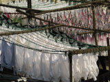 Freshly Clean, Hand Laundered Clothing Hangs to Dry Photographic Print by Abraham Nowitz
