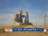 Space Shuttle Atlantis Sitting on Launch Pad 39B Awaiting Lift Off Photographic Print by Mike Theiss