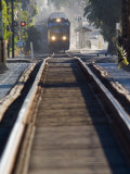 Amtrak Train and Tracks at Emma Wood State Beach Photographic Print by Rich Reid