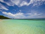 Gentle Waves Lap West Bay Beach in Roatan, Honduras, Photographic Print