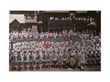 Students of a School Gather Outside for Photo Photographic Print by Franklin Price Knott