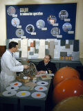 Navy Personnel Research Bright Colors for Submarine Interiors Photographic Print by David Boyer