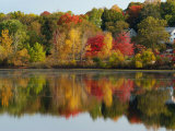 Fall Foliage Reflected in the Arlington Reservoir Photographic Print by Darlyne A. Murawski