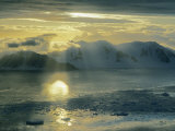 Sunset on the Danco Coast of the Antarctic Peninsula Photographic Print by Gordon Wiltsie