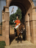 Indian Lancer on Horseback Guards in a Stone Gateway Photographic Print by Volkmar K. Wentzel