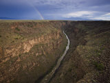 Rainbow Shines Above the Rio Grande in Taos Photographic Print by Michael Melford