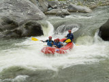 White Water Rafting on the Rio Congrejol River, Honduras Photographic Print by Richard Nowitz