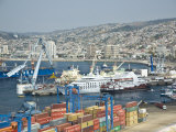 View of the Port of Valparaiso Photographic Print by Richard Nowitz