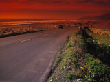 Enhanced View of Vehicle Traveling on a Seaside Road in Ireland Photographic Print by Nick Norman