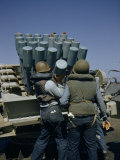 Sailors Load Mortar-Type Projector During Training Operations Photographic Print by David Boyer