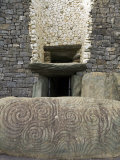 Petrogyphs at the Entrance of Newgrange, a 5000 Year Old Passage Tomb Photographic Print by Rich Reid