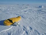 Ski Mountaineer Sleeps Outside at 80 Degrees South Latitude Photographic Print by Gordon Wiltsie