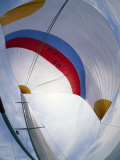 Fisheye View of a Spinnaker on a Sailboat Photographic Print by Michael Melford