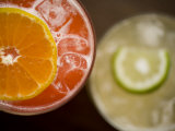 Refreshing Orange and Lime Cocktails Photographic Print by Rebecca Hale